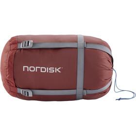 Nordisk Puk +4 Egg Sovepose M, rød/blå